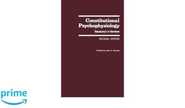constitutional psychophysiology myrtek michael