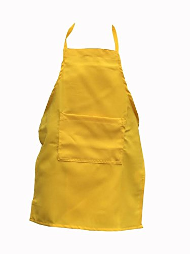 Yellow Apron Kids Children Fits 2-7 Yr Olds 15x21 Fabric Chefskin