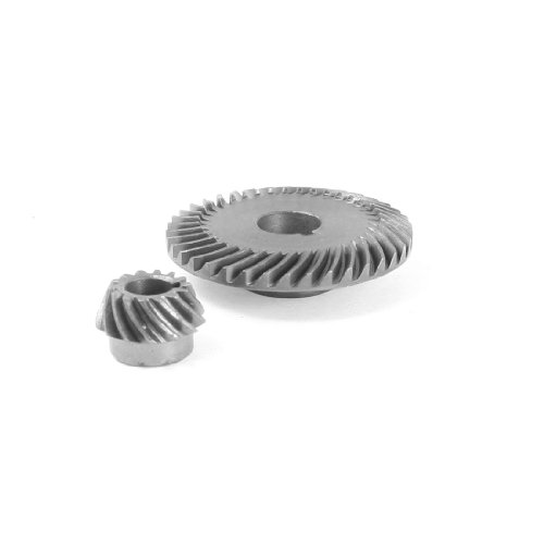 uxcell Repair Part Spiral Bevel Gear Pinion Set for Hitachi 150 Angle Grinder -