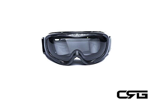 CRG Motocross ATV Dirt Bike Off Road Racing Goggles Adult T815-37 (Clear) by CRG Sports (Image #4)