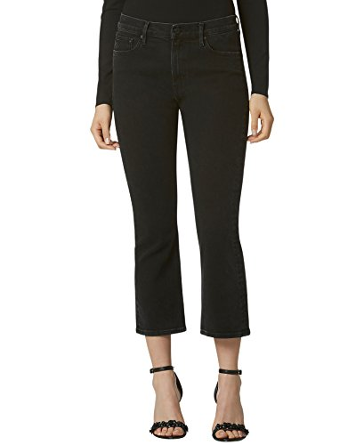 Avec Les Filles Joyce Azria Cropped Flare Jean (Black) Size 25 (Black Cropped Jeans)