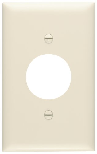 Legrand - Pass & Seymour TP7LACC30 Trade Master Nylon Wall Plate with Single Receptacle Opening, One Gang, Light (Sgl Gang Wall)