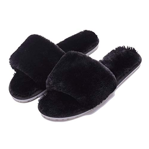 Starttwin Womens Slippers Winter Shoes Home Plush Slipper Indoor Warm Fluffy Cotton Shoes