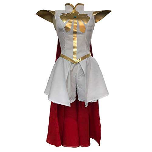 STH Anime She-Ra: Princess of Power Adora Princess Cosplay Costume Dress Cloak Outfit XL White -