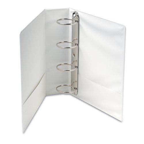 Wilson Jones International A4 4-Ring View Binder, 3 Inch, Customizable, White (Halloween 3 Continents)
