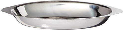 Winco ADO-12 Stainless Steel Oval Au Gratin Dish, 12-Ounce by Winco - Steel Dish Gratin Stainless Au