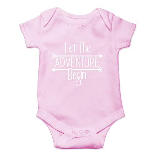 Let The Adventure Begin - Can't Wait to Meet You Worth The Wait - Cute One-Piece Infant Baby Bodysuit (6 Months, Pink)