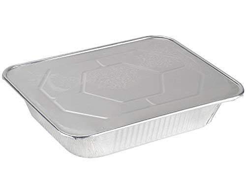 [30 Sets] 9 x 13 Aluminum Foil Pans With Lids Half Size Deep Steam Table Pans & Lids