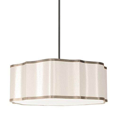 Petals Pendant Lighting - Dainolite Home Indoor Decorative 4-Light Petal Pendant Diana White with Silk Glow Trim, new