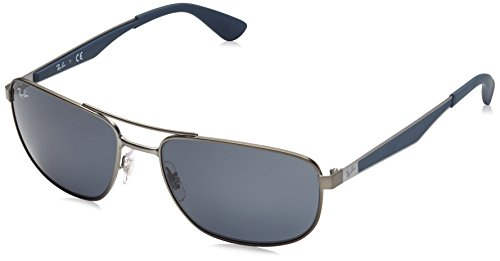 Ray-Ban Mens 0rb3528 Square Sunglasses Matte Gunmetal 029 58 mm