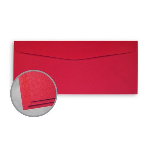 Astrobrights Re-Entry Red Envelopes - No. 10 Commercial (4 1/8 x 9 1/2) 60 lb Text Smooth 30% Recycled 500 per Box 30% Recycled Re Entry