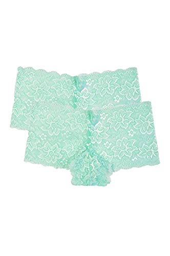 Women's Premium Lace Hipster Panty (2 Pack) (X-Large, - Panty Green Hipster