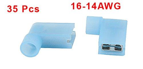 sourcingmap/® 35pz Nylon femmina isolati 16-14AWG filo elettrico bandiera connettori terminali