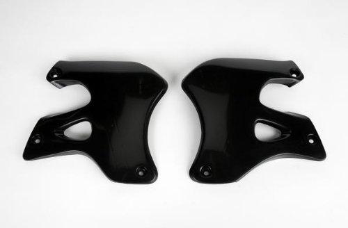 1997 Suzuki RM250 Radiator Covers - Black, Manufacturer: UFO Plastics, RAD SHR BK RM1/2 (Ufo Suzuki Radiator)