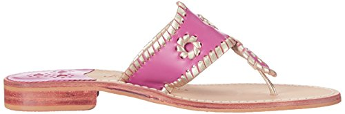 Platinum Pink Beach Palm Jack Flat Bright Women's Rogers Thong Platinum 4n7nRFf