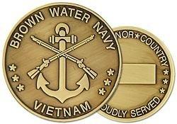 United States Navy Brown Water Navy Vietnam Challenge Coin (HMC 22320)