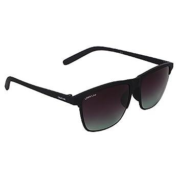 CREATURE Matt Finish Club Master Wayfarer Uv Protected Unisex Sunglasses(Doit-006| 53| Frame-Black)