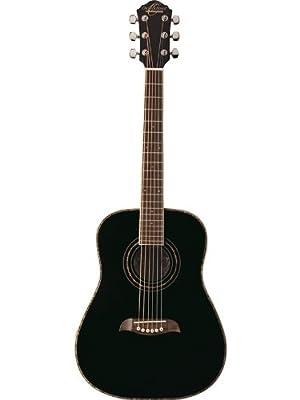 Oscar Schmidt OGHSB 1/2 Size Dreadnought Acoustic Guitar (High Gloss Black)