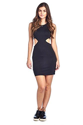 black side cutout dress - 1
