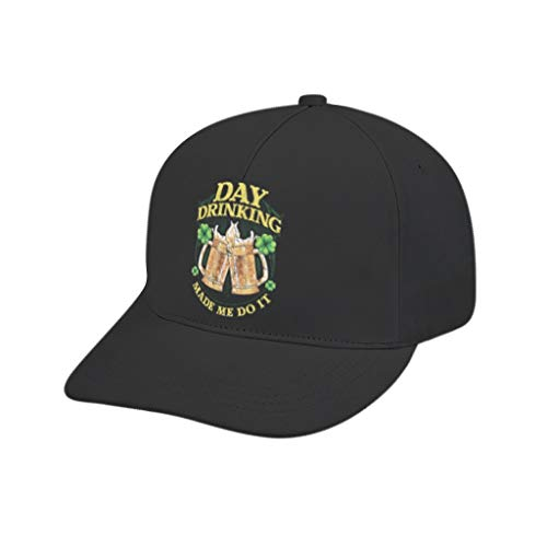 Day Drinking St Patricks Day Unisex Ultimate Baseball-Cap Dad-Hat Adjustable Size Great Gift Idea for Boyfriend Girlfriend or Families White Adult Printing bended Rubber