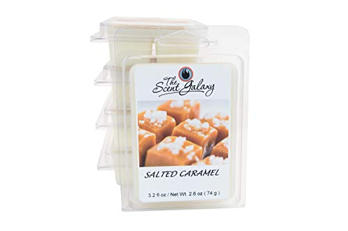 The Scent Galaxy Salted Caramel Wax Melts| Blend of Buttered Caramel and Vanilla Sprinkled with Sea Salt | 2 Pack of 6 Wax Melts | 100% Pure and Natural | Long-lasting Scent | Hand Poured Naturally St