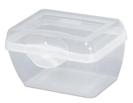 Amazon.com: Sterilite 17718612 Flip Top Storage Box, Clear, 12 Pack, Micro:  Home U0026 Kitchen