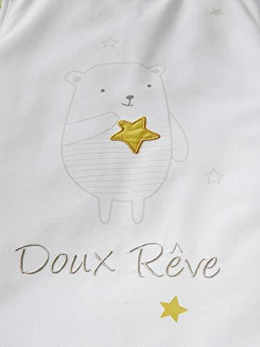 VERTBAUDET - Saco de dormir para bebé, diseño de animales de peluche, sin mangas blanco Blanco Talla:70: Amazon.es: Bebé