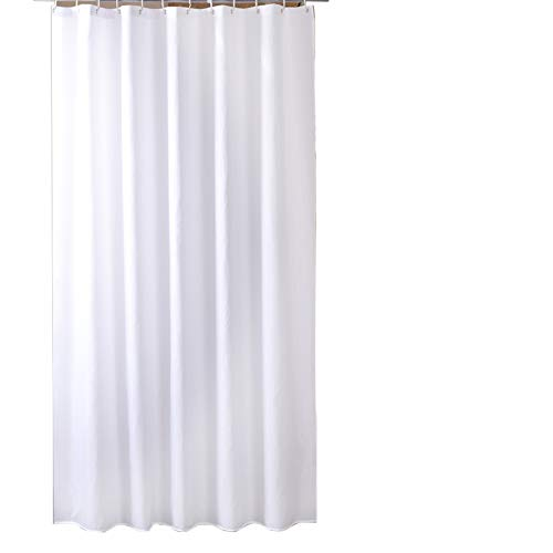 Sfoothome Fabric Heavy Weight Shower Curtain Waterproof Bath Curtains,36 Inch Wide x 72 Inch Long, Pure White Curtain