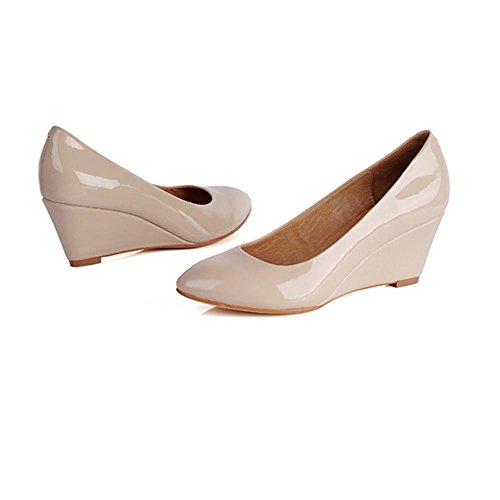 H HQuattro stagioni fanno pendii in pelle femminile con scarpe rotonde (nero, rosa) antiscivolo in gomma OL scarpe professionali , black , 39