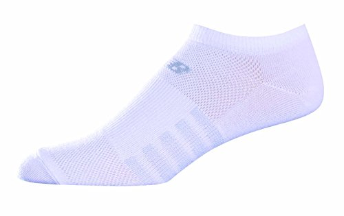 New Balance Unisex 6 Pack No Show Lifestyle Socks , White MD