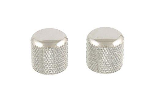 (2 Chrome Dome Knobs Push-On fits Split Shaft Pots)