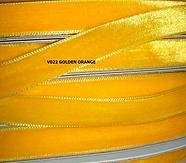 (1.5 Velvet Ribbons- 5 Yards- Choose in 23 Colors (Golden Orange))