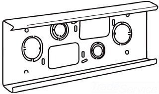 Wiremold V4014A Wall Box Connector Steel Ivory 4000 Series Multiple-Channel Raceway