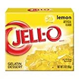 Jell-O Gelatin Dessert, Lemon, 3-Ounce Boxes (Pack of 24)