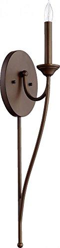 Quorum Lighting 5650-1-86, Brooks Torchiere Wall Sconce Lighting, 1LT, 20 Watts, Oiled Bronze ()