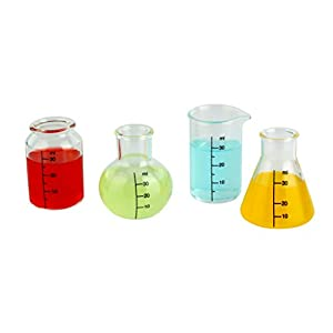 Barbuzzo Lab Shots (Set of 4) - Bring Out Your Inner Nerd, Geek, Chemist, or Mad Scientist - Great Gift for Bio & Chem Grads, Nurses, Doctors and all those in the Medical & Research Fields