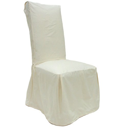 Solid Natural Dining Chair Covers Set of Four 407