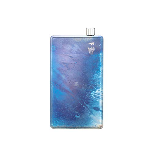 Keith Titanium Ti9301 Artist's Pocket Flask with Funnel - 6.8 fl oz by Keith Titanium