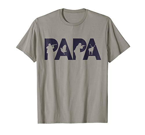 Hunter Dad T-Shirt Funny Papa Hunting Father Gift Top ()