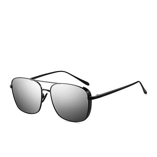 de Sunglasses Lunettes Soleil pour en MatteBlack Steampunk de C1 Cadre des Guide Eyewear TL pour Polarisé Lunettes Voyage Métal Pêche Mirror de Hommes vxPgMz