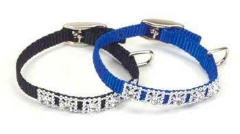 Coastal Pet Products DCP3221BLU 5/16-Inch Nylon Jewel Dog Collar, XX-Small, Blue ()