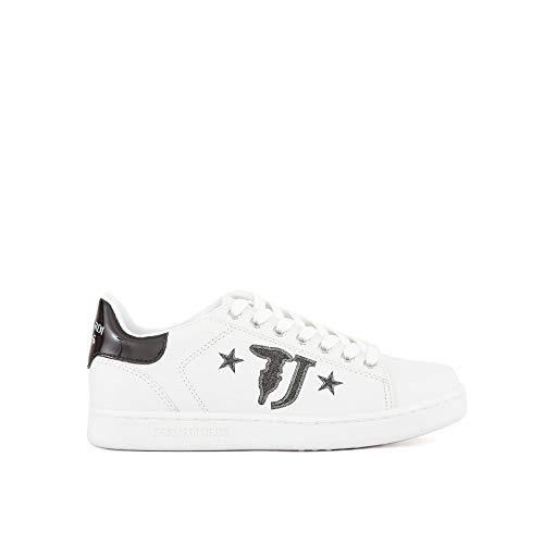 79a00391 Scarpa Bianco Sneakers Jeans Donna Trussardi Sportiva Nero HnZ51qxT
