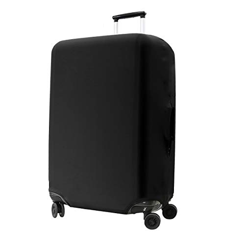 kwmobile Travel Luggage Suitcase Cover – Protective Cover Spandex Suitcase Protector for Carry On Luggage – Black