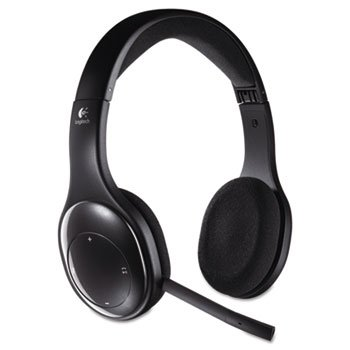 - Logitech 981000337 H800 Binaural Over-The-Head Wireless Bluetooth Headset, 4 ft Range, Black