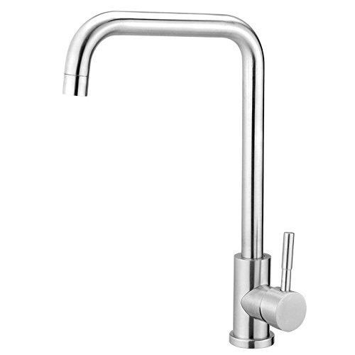 Küchenarmatur des edelstahls 304 kann Heißes und kaltes kaltes kaltes bleifreies Drahtziehen gedreht werden da8698