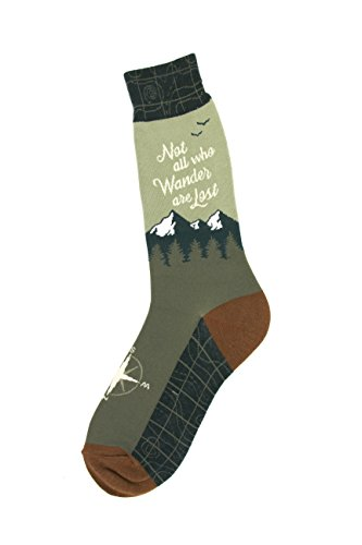 - Foot Traffic - Men's Education-Themed Socks, Wanderer (Shoe Sizes 7-12)