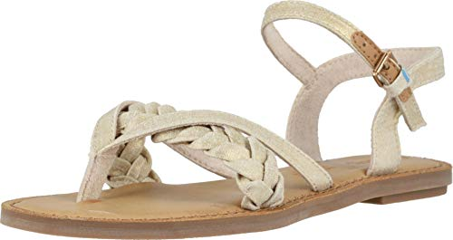 (TOMS Women's Lexie Natural Shimmer Canvas 12 B US)