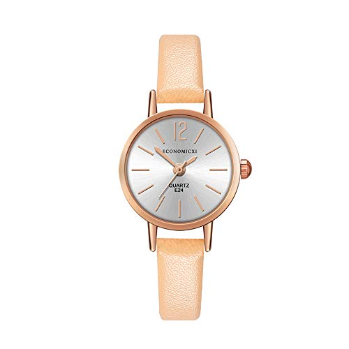 Womens Ladies Classic Simple Leather Analog Quartz Wrist Watch