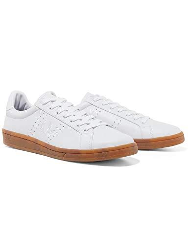 Cuir Fred Perry Blanc L'homme Chaussure B721 wqAHIqU