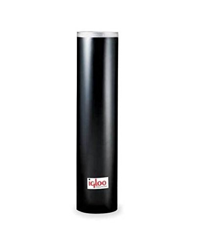 Igloo 9534 Plastic Cup Dispenser - 7-8 oz cups Black 7 Ounce Cup